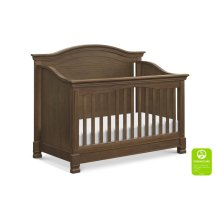 Mocha Louis 4-in-1 Convertible Crib with Toddler Bed Conversion Kit