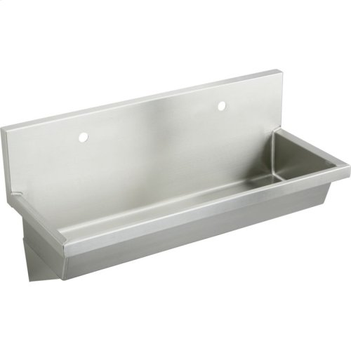 """Elkay Stainless Steel 48"""" x 20"""" x 8"""", Wall Hung Multiple Station Hand Wash Sink"""