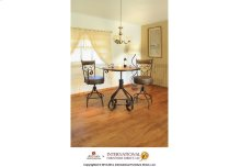 """24-30"""" Adjustable Height barstool Armless, with Faux Leather seat"""