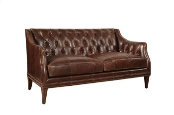 Kennedy Walnut Leather Settee Product Image