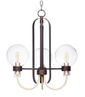 Bauhaus 3-Light Chandelier