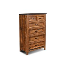 HH-4365 Bedroom  6 Drawer Chest  Industrial Metal Accents