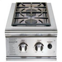 "Brushed Stainless Steel Side Burners - 30"" Cart Mount"