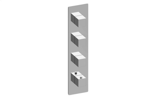 M-Series Square Thermostatic 4-Hole Trim Plate and Handle