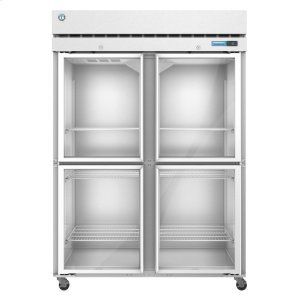 HoshizakiF2A-HG, Freezer, Two Section Upright, Half Glass Doors with Lock