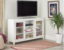 "60"" White Folding TV Console"