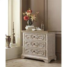 Elizabeth - Three Drawer Bachelor Chest - Smokey White/antique Oak Finish