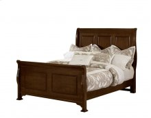 "Sleigh Bed (queen)64""W x 57.5""H;"
