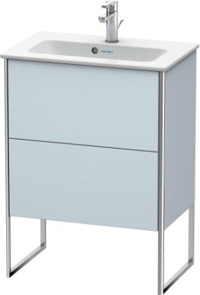 Vanity Unit Floorstanding Compact, Light Blue Satin Matt Lacquer