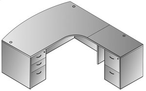 """Napa Right L Shape W/curved Corner 71""""x83"""""""