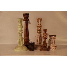 Assorted Candle Holder Wood