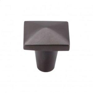 Aspen Square Knob 1 1/4 Inch - Medium Bronze