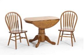 Classic Oak Solid Oak Drop Leaf Pedestal Base