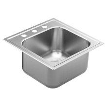 """2000 Series 20"""" x 20"""" stainless steel 20 gauge single bowl drop in sink"""