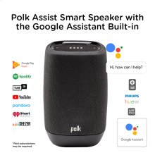 Smart Speaker with the Google Assistant Built-In in BLACK