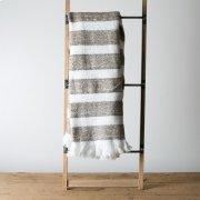 Duke Throw - White & Camel Product Image