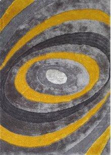 105 Gray Yellow Rug