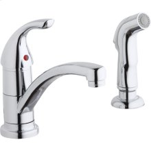 Elkay Everyday Single Hole Deck Mount Kitchen Faucet with Lever Handle and Side Spray Chrome