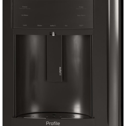 GE Profile™ Series 22 2 Cu  Ft  Counter-Depth French-Door Refrigerator with  Door In Door and Hands-Free AutoFill