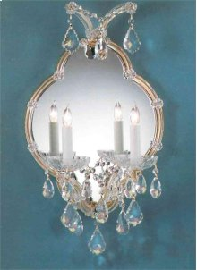 2 Light Silver Sconce