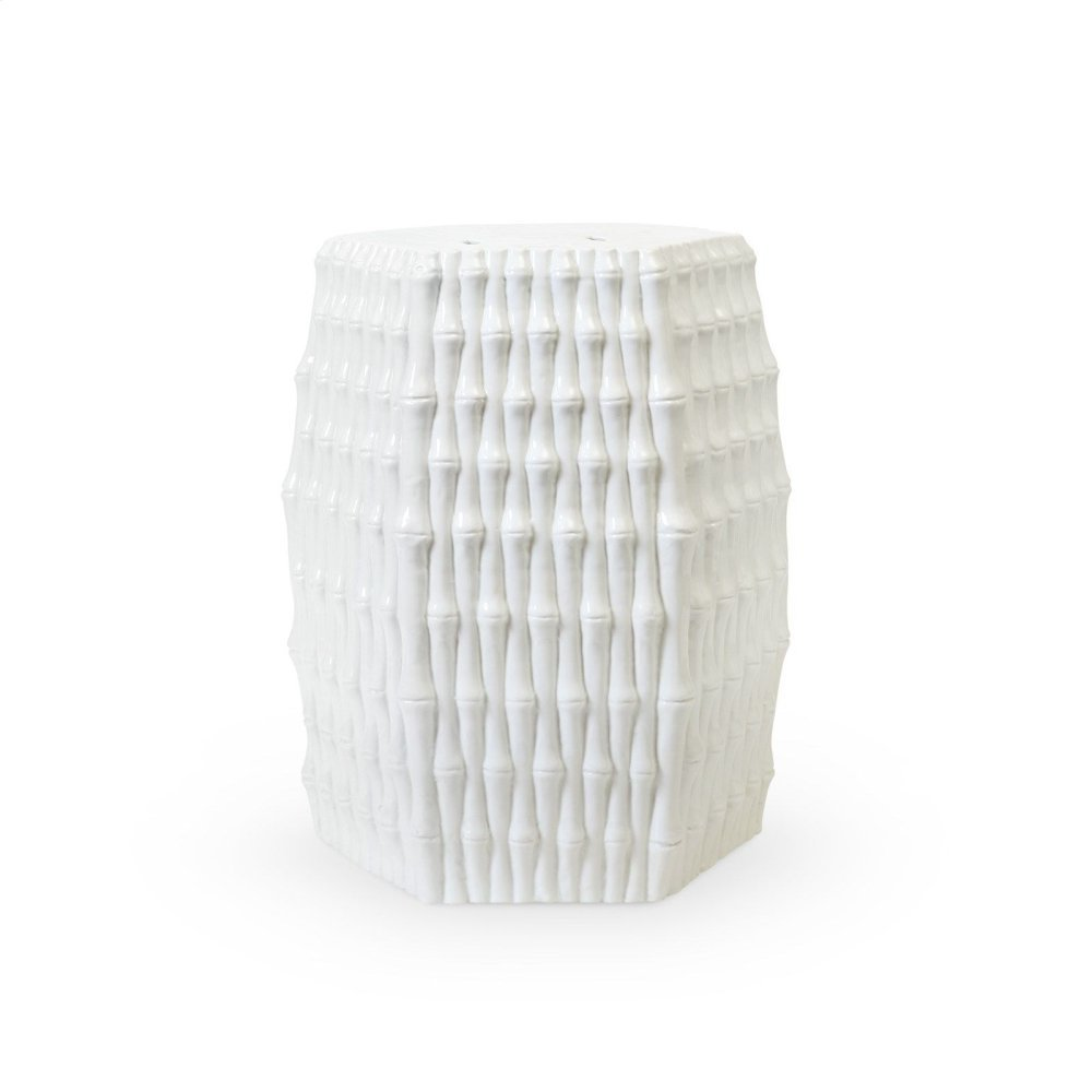 Burma Stool/ Side Table, White