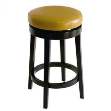 "Mbs-450 26"" Backless Swivel Barstool in Wasabi Bonded Leather"