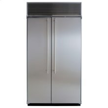 "42"" Refrigerator Freezer - 42"" Marvel Side-by-Side Combination Refrigerator Freezer - White Interior with Stainless Steel Doors"