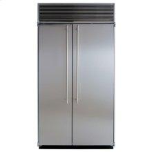 "42"" Refrigerator Freezer - 42"" Marvel Side-by-Side Combination Refrigerator Freezer - White Interior with Stainless Steel Doors"