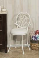 O'malley Vanity Stool - Matte White Product Image