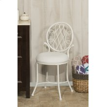 O'malley Vanity Stool - Matte White