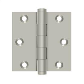 """3""""x 3"""" Square Hinge - Brushed Nickel"""