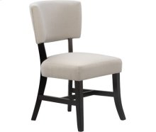 Rayna Upholstered Chair Black with Stone upholstery *Complements Coal/Black (#75 finish)