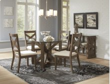 Hampton Road Round Dining Table With Four X Back Chairs