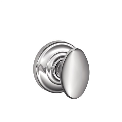 Siena Knob with Andover Trim Hall & Closet Lock - Bright Chrome