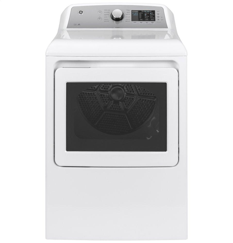 GE(R) 7.4 cu. ft. Capacity aluminized alloy drum Gas Dryer with HE Sensor Dry