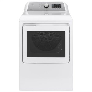 GE®7.4 cu. ft. Capacity aluminized alloy drum Electric Dryer with Sanitize Cycle and HE Sensor Dry