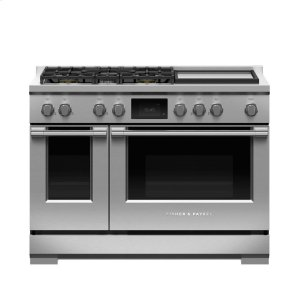 "Fisher & PaykelDual Fuel Range, 48"", 5 Burners with Griddle,LPG"