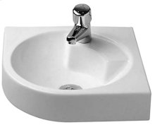 White Architec Washbasin Corner Model