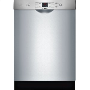 """Bosch24"""" Recessed Handle Dishwasher 300 Series- Stainless steel SHE33T55UC"""