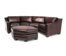 Henley Leather LAF&RAF Sofa Set w/Ottoman in Ember Espresso