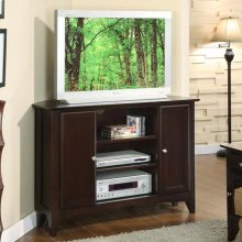 Metro II - 44-inch Corner Console - Ebony Brown Finish