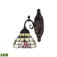 Mix-N-Match 1-Light Wall Lamp in Tiffany Bronze with Tiffany Style Glass - Includes LED Bulb