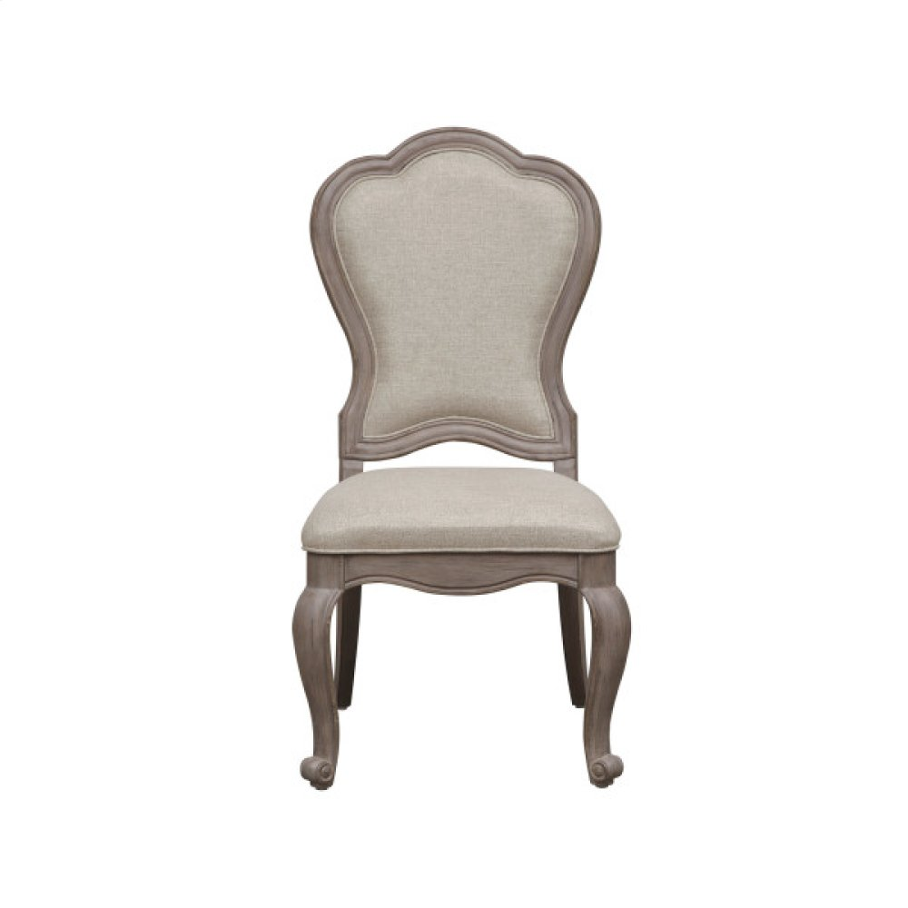 Simply Charming Upholstered Side Chair
