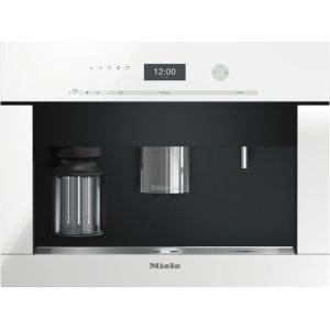 MieleBuilt-in coffee machine with bean-to cup system and OneTouch for Two prep. for perfect coffee enjoyment.