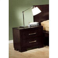 Jessica Cappuccino Two-drawer Nightstand