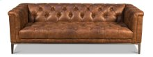 Brown Cube X 3 Sofa