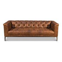 Brown Cube X 3 Sofa
