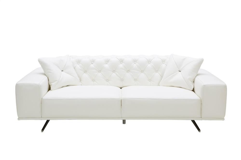 Divani Casa Bartlett Modern White Leather Sofa