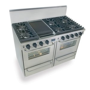 "Five Star48"" All Gas, Convection, Sealed Burners, Stainless Steel"