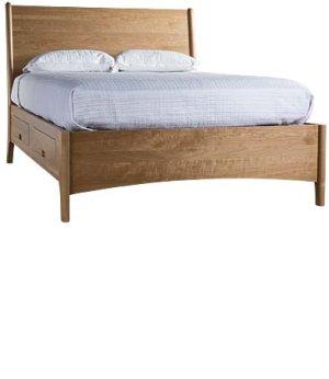 Brancusi Sleigh Storage Bed - California King